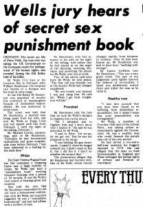 'Wells Jury Hears Of Secret Sex Punishment Book',Gay News 177, 18-31 October 1979